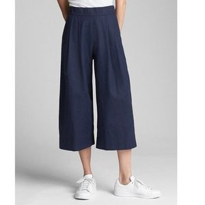 Gap Linen High Rise Cropped Wide Leg Pants 18 v530